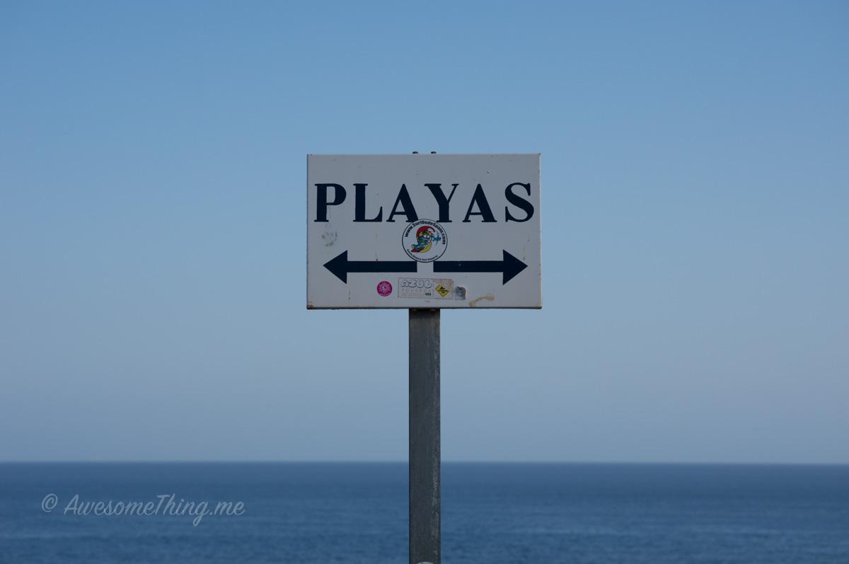 Spain Beach Sign