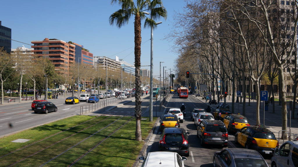 Прогулка на автобусе с детьми, Барселона