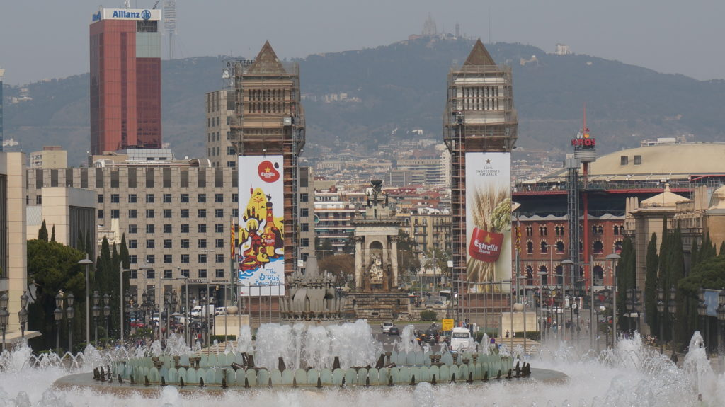 Поющие фонтаны, Барселона
