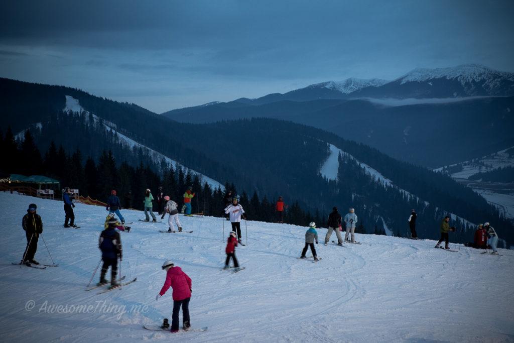 Вид с горы, Буковель с детьми