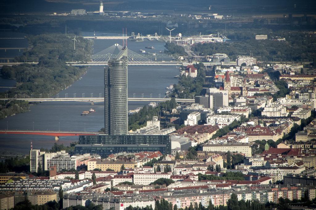 Вид на Вену со смотровой площадки