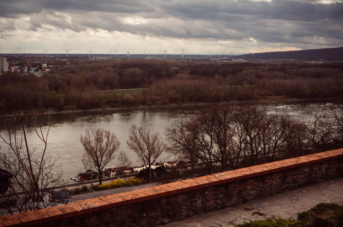 Братиславский град, вид из замка