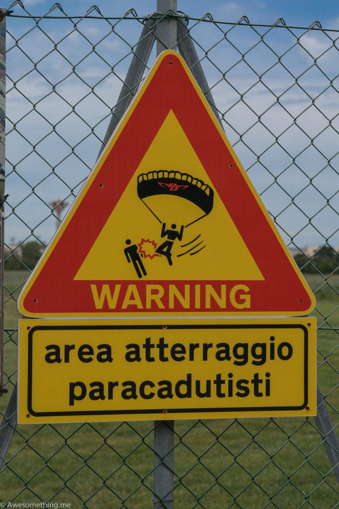 Дропзона в Фано, Италия
