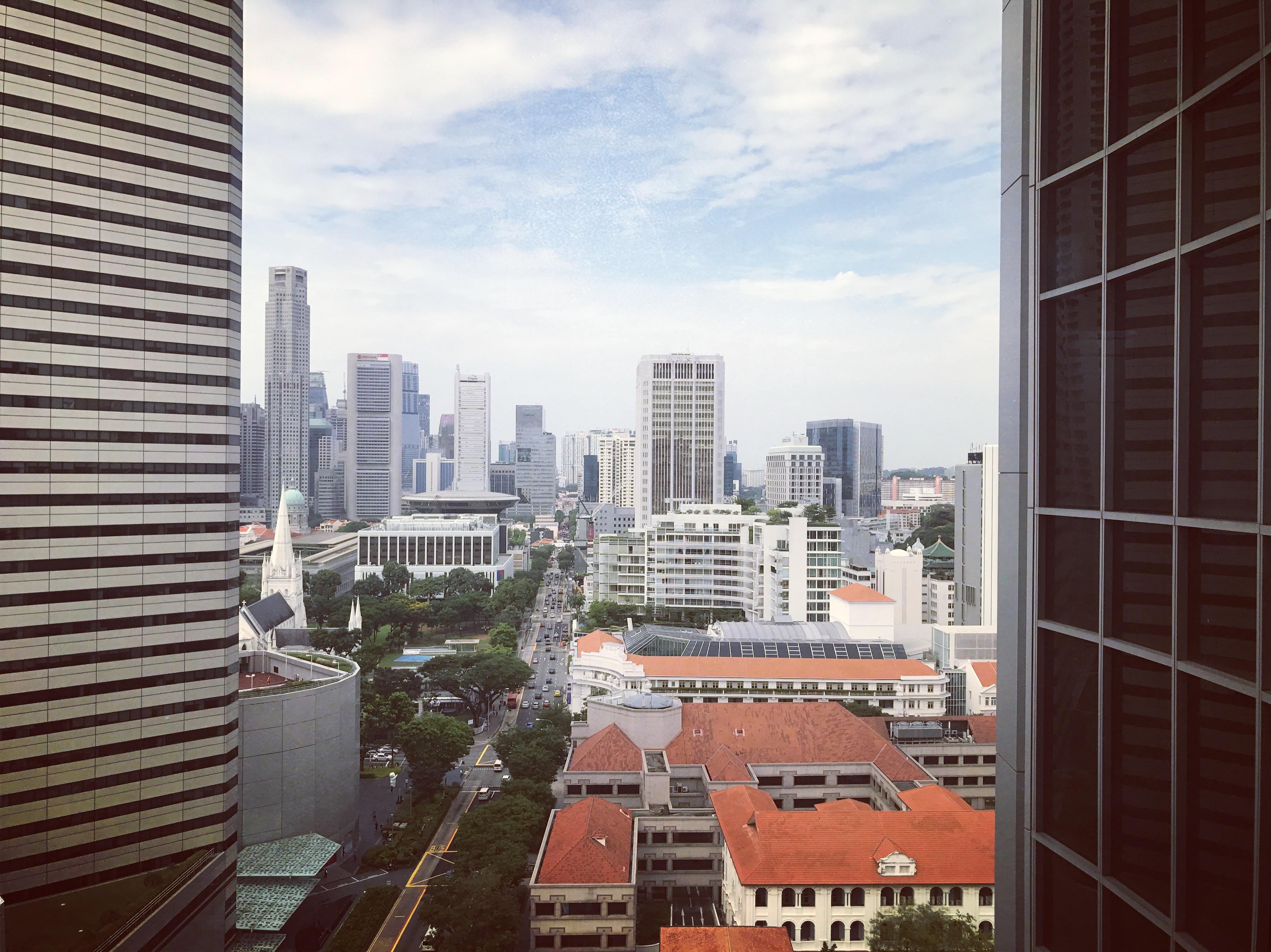 Вид из окна отеля, Сингапур