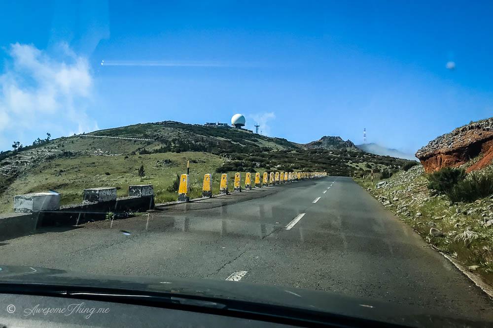 Дорога на Pico do Arieiro, Мадейра